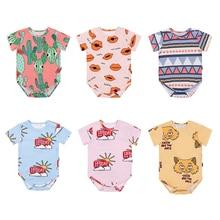 TinyPeople NEW 2019 baby onesies summer Short sleeve cotton fabrics jumpsuit bebe bodysuit boys girls cute newborn clothes