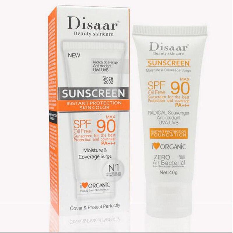 6pcs Facial Sunscreen Cream Beauty Skin Care SPF 90 Oil Free Anti Oxidant UVA/UVB 40g Britening Anti Sun Day Cream