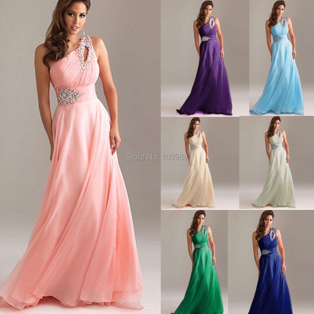 2019 Ny brudmaid / kväll / prom / festklänning med applikationer i lagerstorlek (6 storlekar att välja)