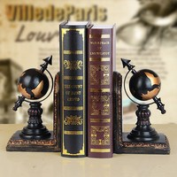 Bookend vintage home decoration book end globe bookend decorations crafts livros