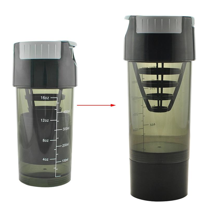 600-700ML Protein Shaker Protein Sports Nutrition Blender Mixer Bottle Fitness GYM Shaker For Protein Powder Water Bottle#