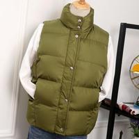 2018 Autumn Winter Women Cotton Vests Warm Down Coats Women Cotton Padded Jackets Sleeveless Solid Casual Vest jacket