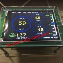 Detektor monitorowania jakości powietrza PM2.5 domowego PM2.5 kurz haze czujnika pomiaru TFT LCD (G3/M3 stężenie version)