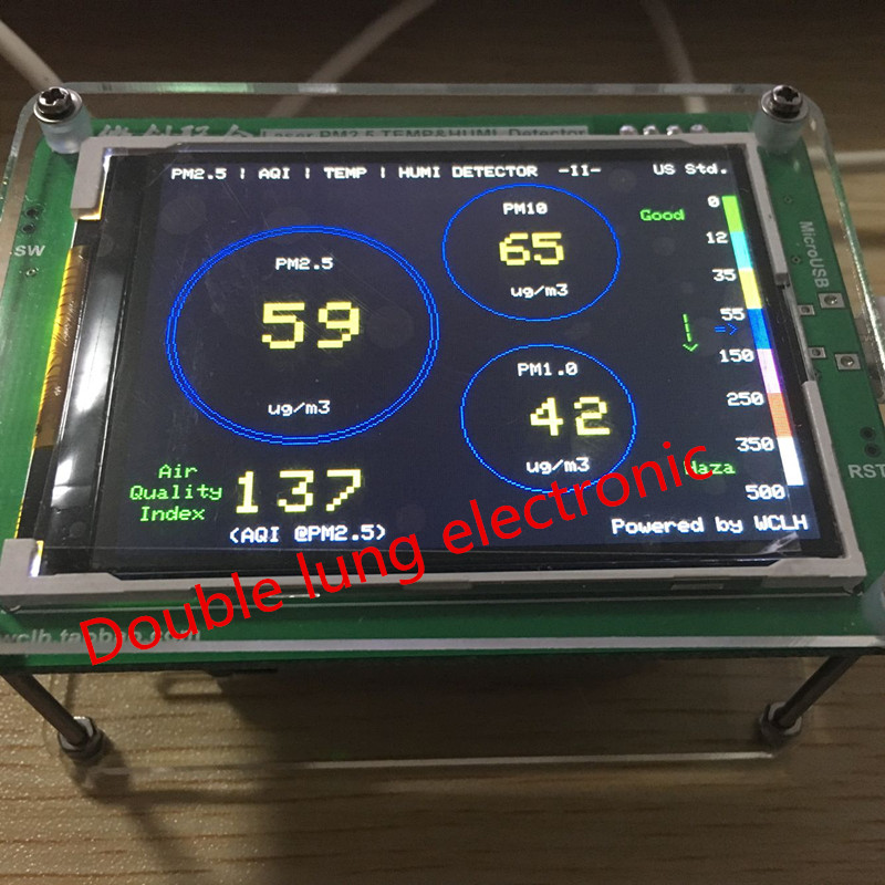 Household PM2.5 detector air quality monitoring PM2.5 dust haze measuring sensor TFT LCD(G3 / M3 concentration version)