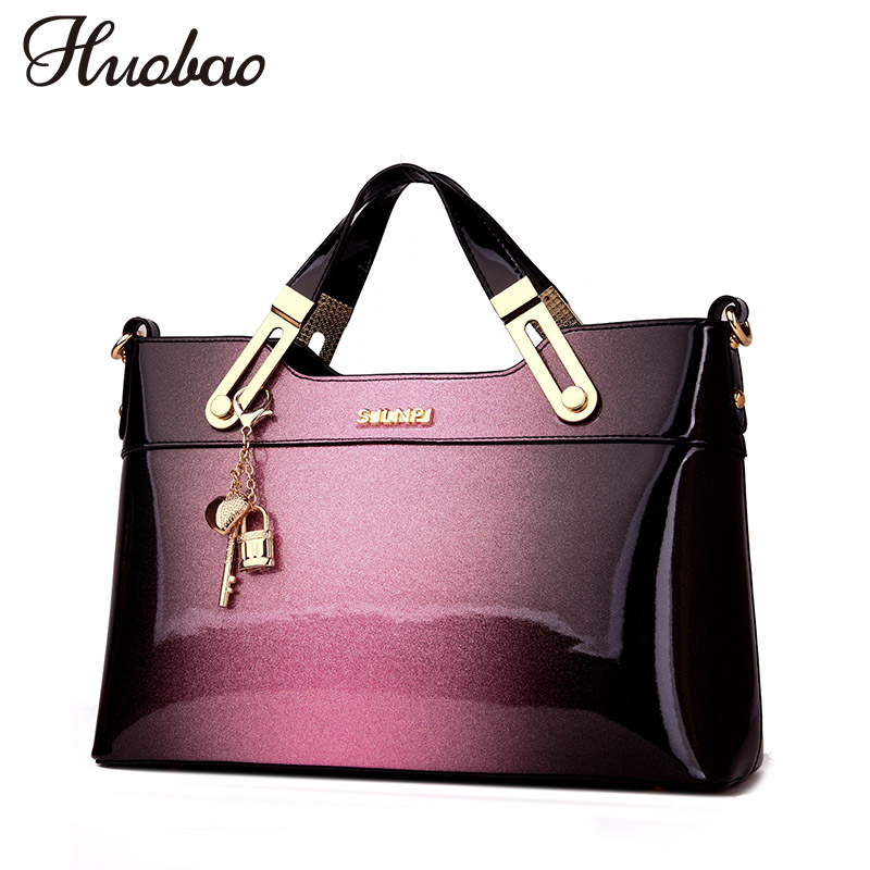 New Luxury Women Leather Handbags Designer Crossbody Bag High Quality Patent Leather Ladies Shoulder Bag Fashion