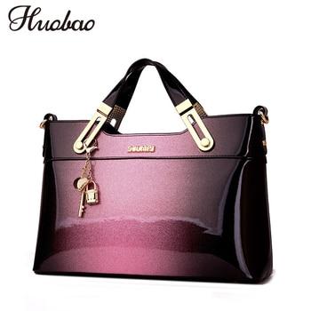New Luxury Women Leather Handbags Designer Crossbody Bag High Quality Patent Leather Ladies Shoulder Bag Fashion Tote sac a main grande bolsas femininas de couro
