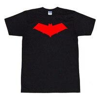 Batman Dưới Mui Xe Màu Đỏ Jason Todd Các Mui Xe Màu Đỏ Logo T-Shirts Print Bông Ngắn Tay Áo Tee Áo Sơ Mi Đen