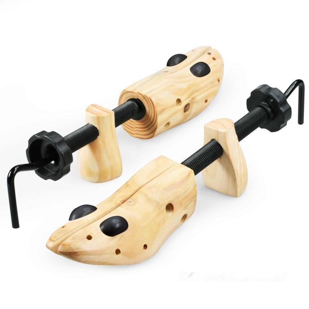 New Premium Professional 2-Way Wooden Shoe Stretcher for Men and Women