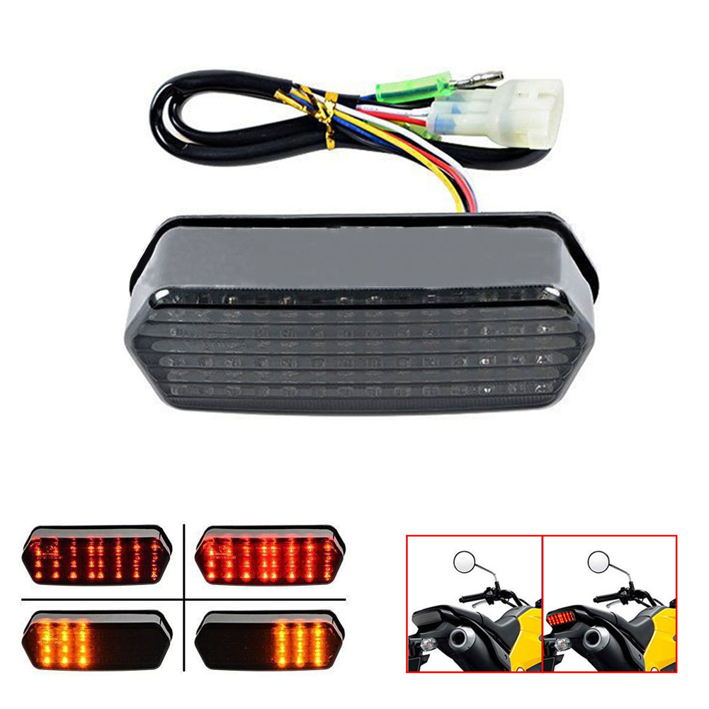 Accessories Integrated LED Smoke Motorbike Motorcycle Tail Turn Signal Brake Light Lamp Racer Rear Fender Edge  new led tail light taillight turn signal lamp for ducati streetfighter s 848 1102012 2013 2014 smoke motorcycle parts