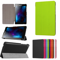 3 Folding Magnetic Case Luxury Folio Stand Pu Leather Case Cover For Lenovo Tab 2 Tab2
