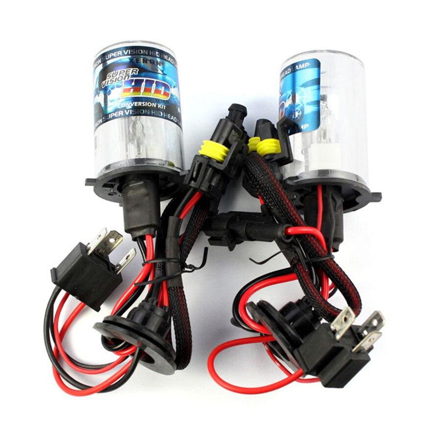 New 2 X HID Xenon Car Auto Headlight Light Lamp Bulb Bulbs H4/H 4300K 12V 35W 3000LM 2 pieces xenon bulbs car lamp d4r 4300k 42406wx 6000k 12v 35w