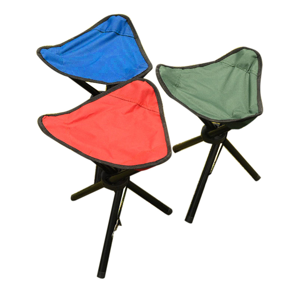 1*Camping Folding Stool Portable 3 Legs Chair Tripod Seat