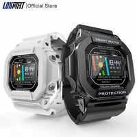 Lokковрики Bluetooth Смарт-часы для женщин и мужчин IP68 водонепроницаемый цветной сенсорный экран монитор сердечного ритма цифровые Смарт-часы дл...