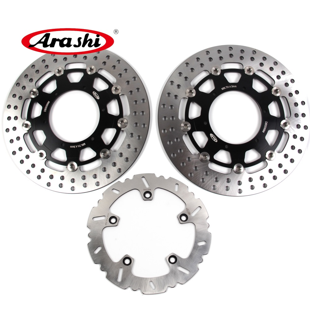 ARASHI FOR BMW F800GS Front Rear Brake Rotors Disc FIT BMW F 800 GS 2015 2014 2013 2012 2011 2010 2009 F650GS F800GS F700GS пороги rival bmw style hyundai ix35 2010 2013 2015 kia sportage 2010 2014 2015 круг 173 см крепеж 2 шт