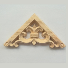 European Style Decoration Unpainted Wood Carved Decal Corner Onlay Applique Wall Cabinet Door Decor Crafts