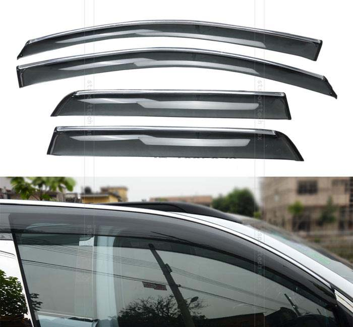 ФОТО ACCESSORIES FIT FOR MITSUBISHI ASX/ OUTLANDER SPORT/ RVR SIDE WINDOW RAIN DEFLECTORS GUARD VISOR WEATHERSHIELDS DOOR 2010-2015