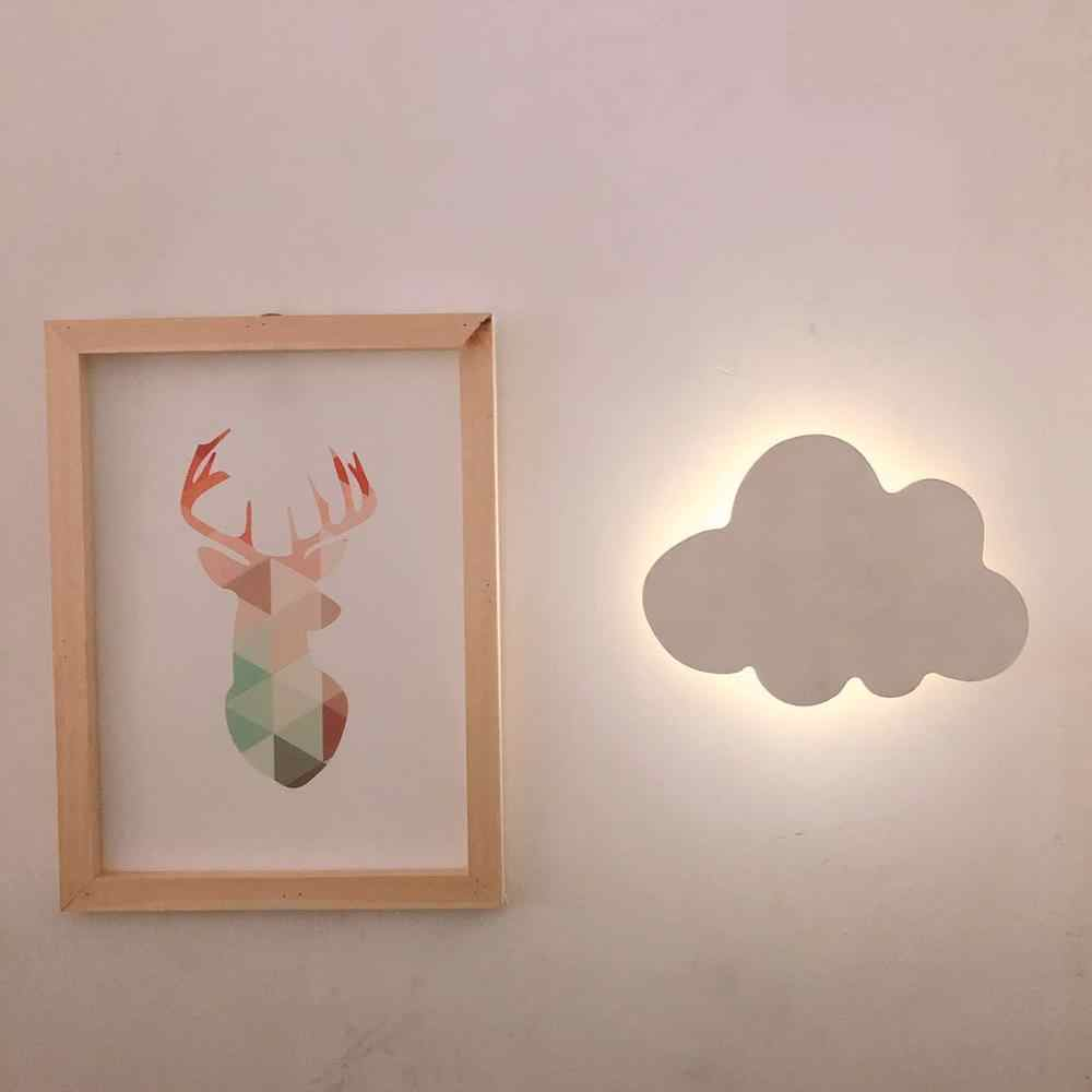 Modern Nordic Style Cloud Wall Lamp Lights White Pink LED Wall Mounted Living Room Girl Children Bedroom Light Decoration Design