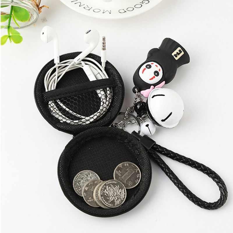 Careta Arsmundi Criativa Dos Desenhos Animados Coin Purse Bonito Sino Cordão Carteira Bolsa Saco De Armazenamento de Fone De Ouvido Cabo USB Mini Bag Case Holder