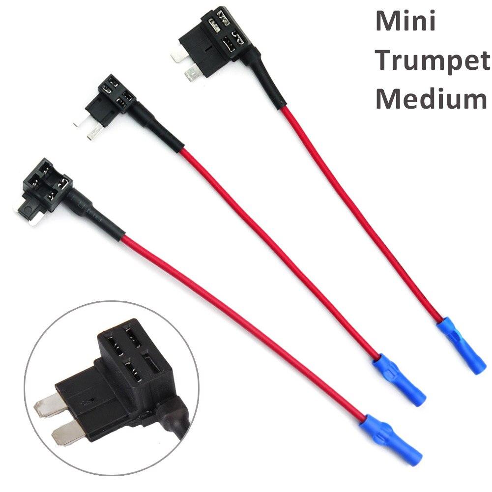 Mini/Medium/Small Standard Add A Circuit Fuse Tap Piggy Back Blade Holder Plug Socket CSL2017