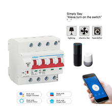 4P 32A WiFi remote control Smart Circuit Breaker overload short circuit protection with Amazon Alexa and Google  for Smart home стоимость