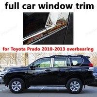 Volledige Venster Trim Auto Exterieur Accessoires Decoratie Strips Voor Toyota Prado 2010-2013 Aanmatigend Rvs