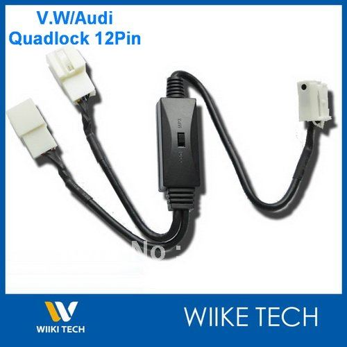 imágenes para Car MP3/CDC Interruptor Cable Para VW Audi Seat skoda 12Pin Quadlock con cambiador de CD, Y-VW12P
