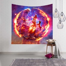 Galaxy Hanging Wall Tapestry Hippie Retro Home Decor Yoga Beach Towel Starry Sky Stars Blanket Table Cloth Scenery Decoration