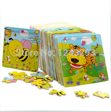 cartoon animal baby jigsaw Board puzzles 2-5 years old child tangram wooden Kids toys puzzle Educational Learning toys unisex