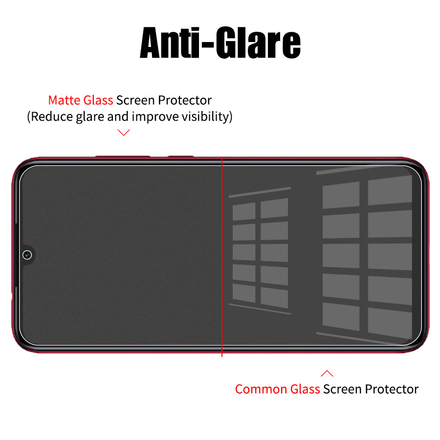 Full Screen Frosted Matte Screen Protector Tempered Glass for Xiaomi And Mi And Redmi 10