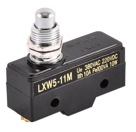 Ue 380VAC 220VDC Lth 3A Pe100VA 10W Push Plunger Actuated Momentary Limit Switch Silver Point LXW5-11M