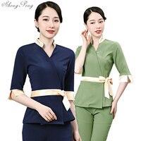 New Beauty Uniform Salon Message Health Club Technician Spa Uniform Nurse Women Nurse Work Wear V1341