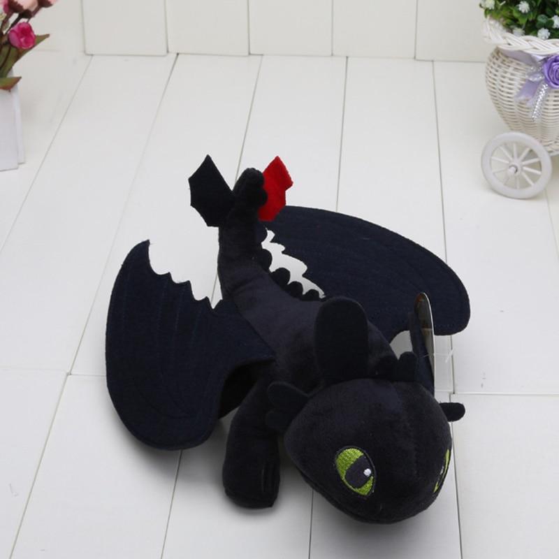 Hot Movie 23cm How To Train Your Dragon 2 Night Fury Toothless Dragon Stuffed Animal