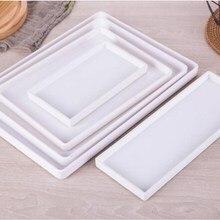 Черный, белый цвет прямоугольный отель меламиновая лоток стакана воды Чай лоток творческий Пластик стиральная хранения жесткого диска