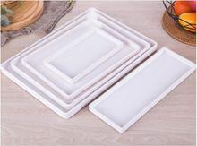 Preto branco retangular hotel melamina bandeja copo de água bandeja de chá criativo plástico sala armazenamento de lavagem bandejas