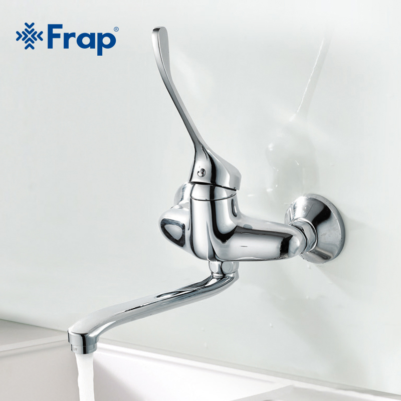 Frap Brass Bathroom proboscis basin faucet 25cm nose hot and cold water medical faucet long handle taps for Wash clothes F4654