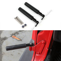 Black Car Door Steps Kit Door Hinge Foot Pedal Peg for Jeep Wrangler JK 2007 2017 Car Styling
