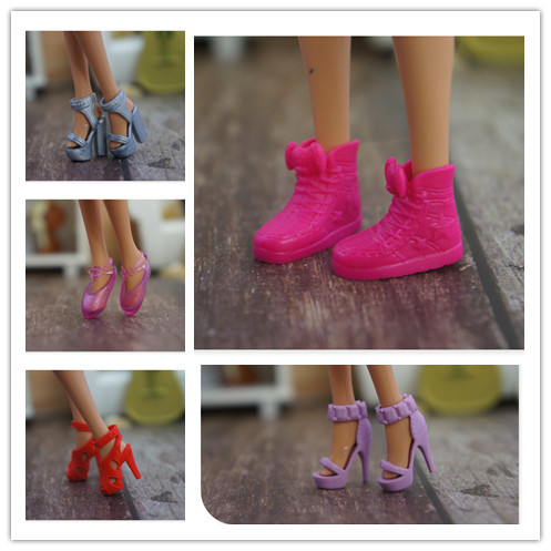 New Arrive Original 1 Pair Doll Shoes 1/6 Fashion Boot Flat Shoes Sandals For Barbie Doll 1/6