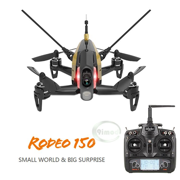 F18129/30 Original Walkera Rodeo 150 with DEVO 7 Remote Control Racing Drone with 600TVL Camera RTF BNF walkera rodeo 150 bnf without transmitter rc racing drone with 600tvl night vision camera 150 size