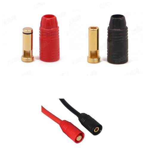 1 zestaw zgromadzić AS150 pozłacany wtyk bananowy 7mm męski/żeński do wysokiego napięcia baterii czerwony/czarny