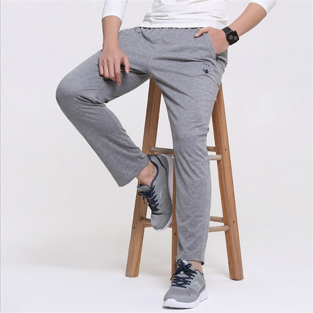 Men pants thin teenage boy trousers 2017 new spring male casual straight health cheap pants student sweatpants plus size 6XL
