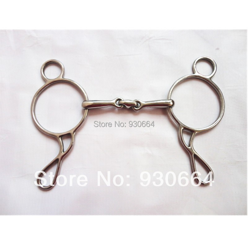 11.5cm Equestrian Products Gag Bit  Stainless Steel  Horse Bit Horse Equipment  (H0913 )