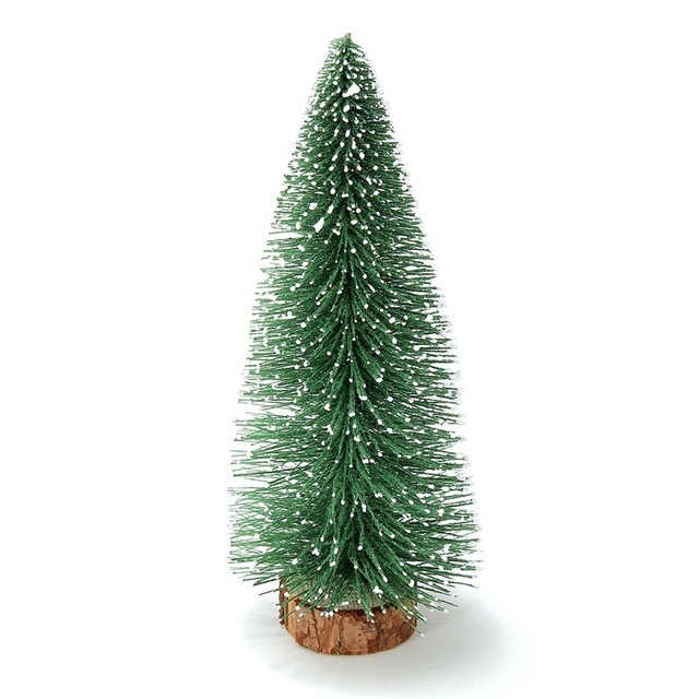 1 Pcs Mini Christmas Tree Small Pine Tree Ornaments Figurines Miniatures Christmas Decorations Home Office Diy Decoration Crafts by Kiwarm