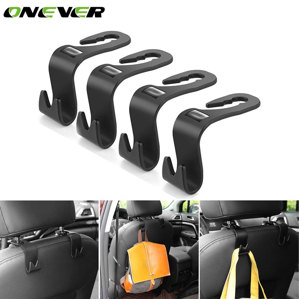 Wholesales Black Multipurpose Double Car Van Seat Back Hanger Organizer Hook Headrest Holder Bathroom Fixtures Bathroom Hardware