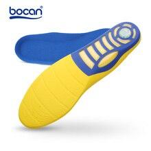 Bocan Plantilla de espuma con memoria gel de zapato plantillas con absorción de impacto gel plantilla con soporte de arco para hombres/mujeres