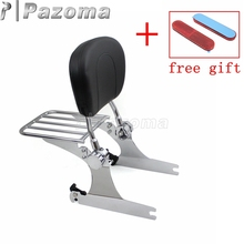 Motorcycle Detachable Sissy Bar Rear Passenger Backrest Luggage Rack Cushion Pad for Harley Dyna FXD FXDC FXDL FXDX 2002-2005