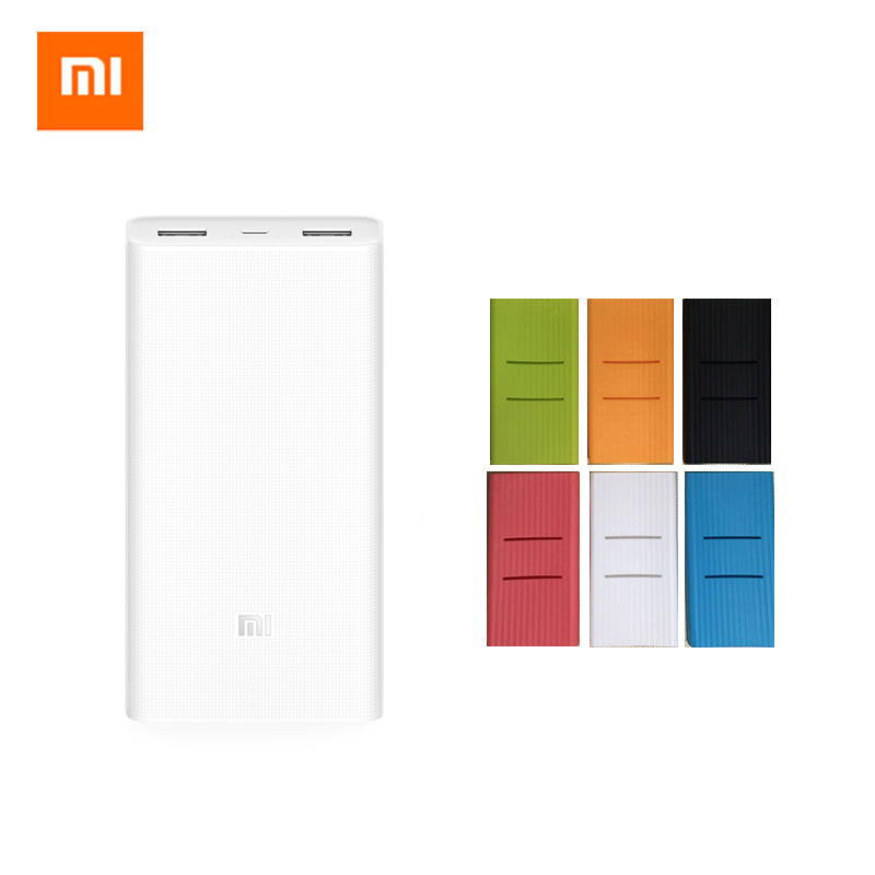 Original Xiaomi Mi 20000 MAh Power Bank 2 Dual USB Ports QC 3 0 Two Way