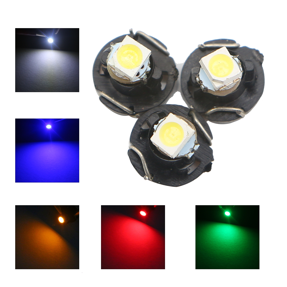 50pcs/lot T3 LED 1210 1 SMD Bulbs Gauges Dashboard Instrument Dash Cluster Car 12V White Blue Red Amber Green Lamp Free Shipping