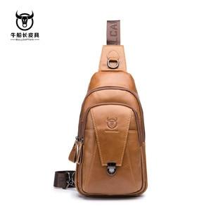 Image 5 - Brand 2020 High Quality Men Genuine Leather Cowhide Vintage Chest Back Pack Travel fashion Cross Body Messenger Shoulder Bag