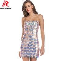 Sexy Off Shoulder Summer Sequins Dress Women 2018 Luxury Nightclub Bling Party Queen Dresses Fashion Strap Strapless Vestidos HL