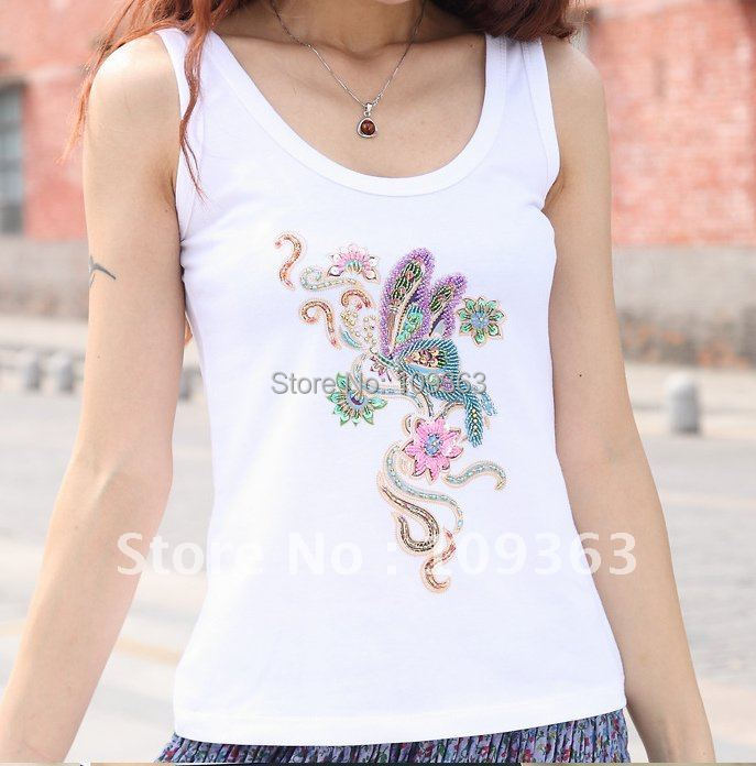 482a7870 Fashion Girl's Cotton Tank Tops ,Unique Women's Tank Tops ,Ladies T shirts  PST008-in Tank Tops from Women's Clothing & Accessories